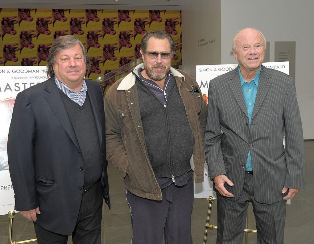 Джеймс Розенквист (крайний справа) был одним из самых ярких представителей поп-арта