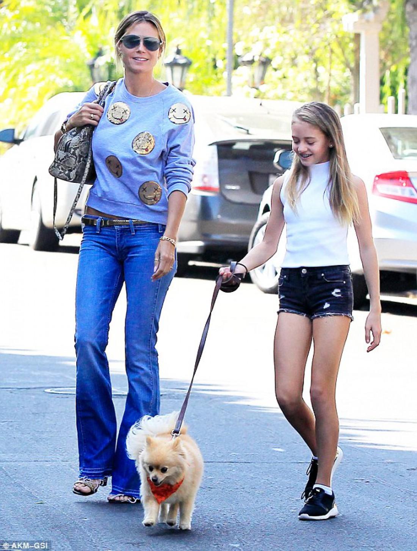 Хайди Клум и ее дочь Лени