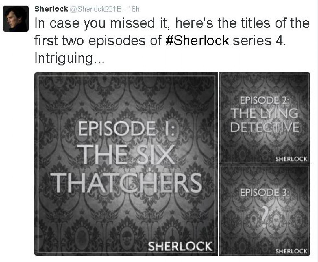 Стали известны названия новых серий четвертого сезона Шерлока