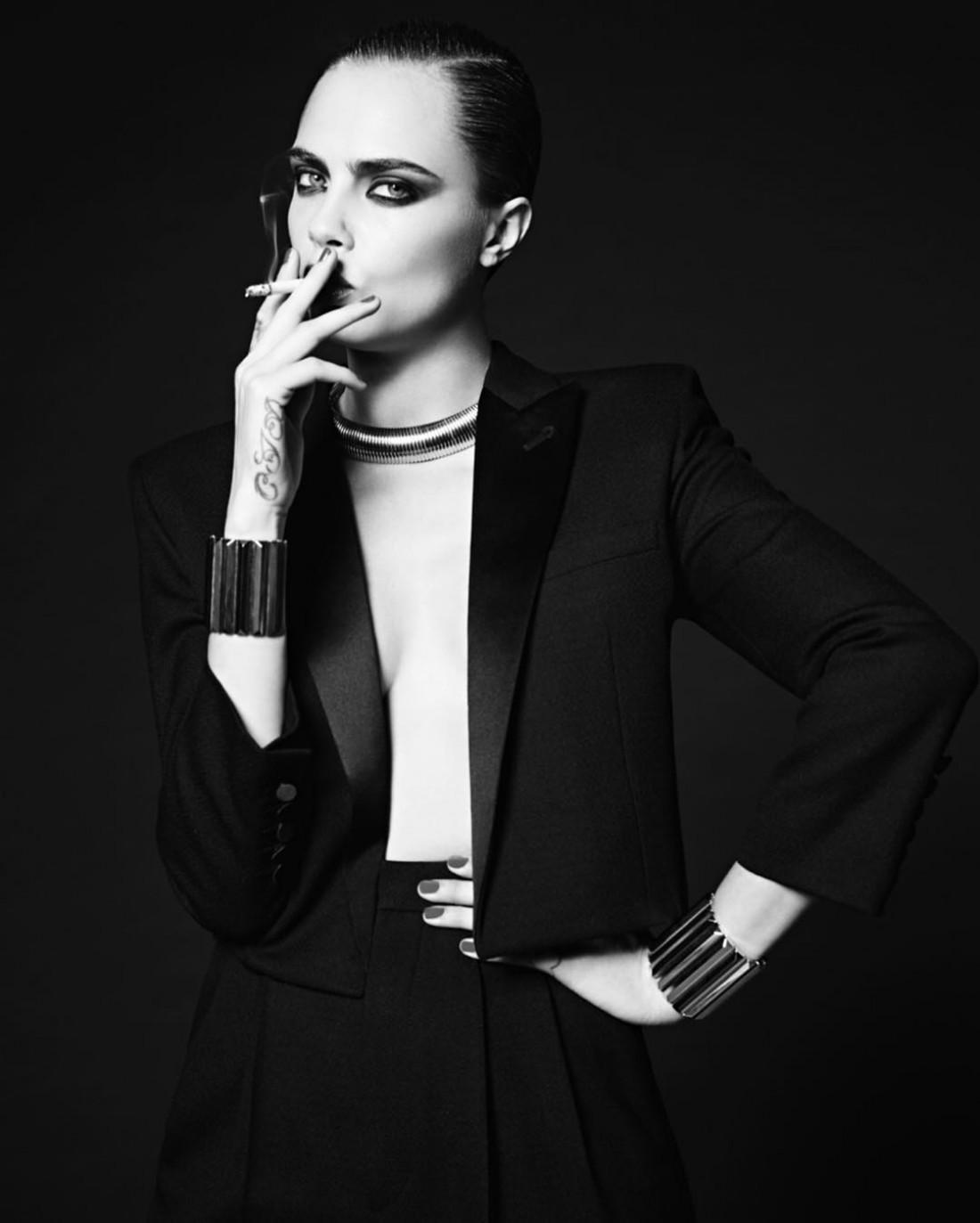 Модель Кара Делевинь в новой рекламной кампании