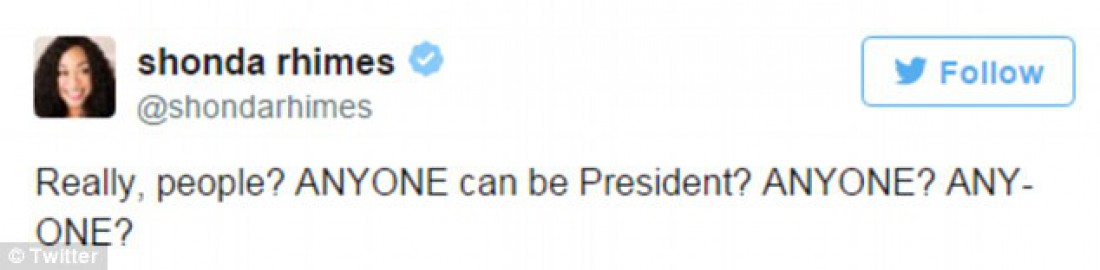 Шонда Раймс: Серйозно, люди? Хто завгодно може бути президентом? Хто завгодно?