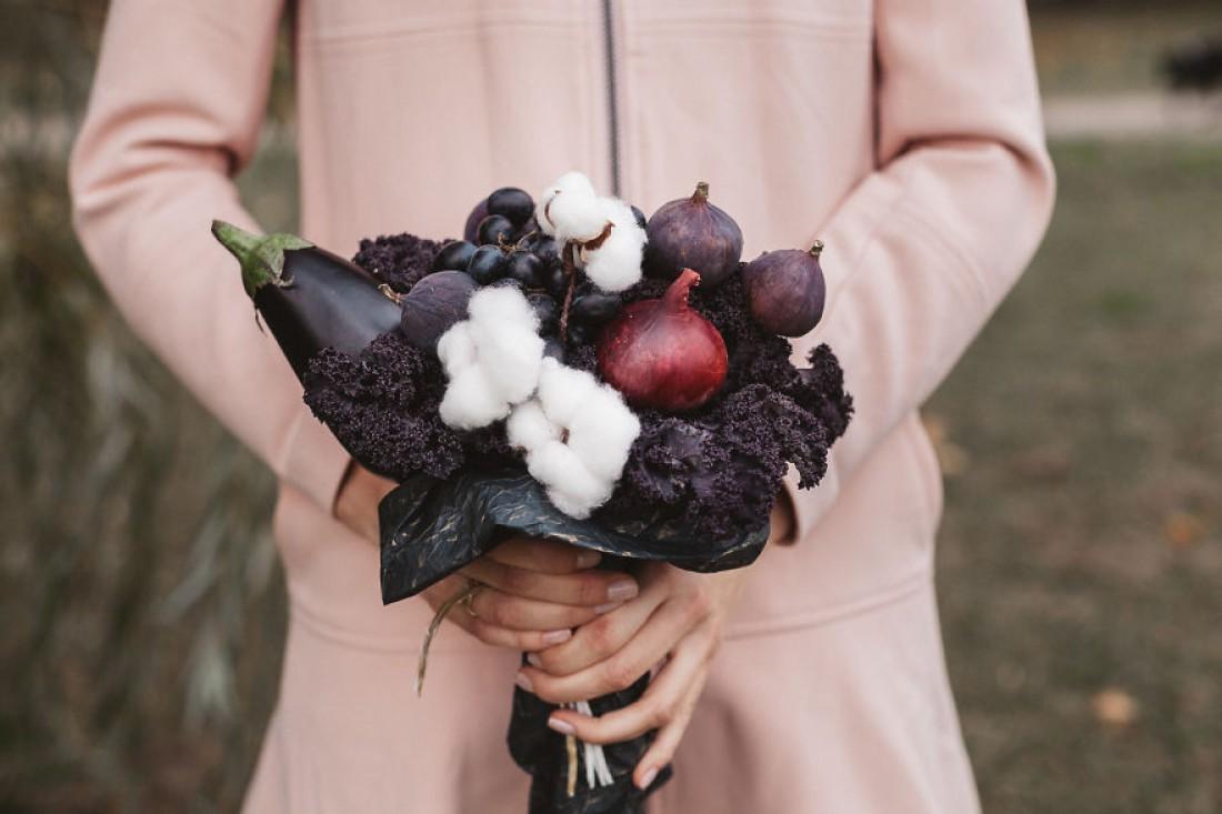 Фруктово-овощной букет – вариант стильного и практичного подарка