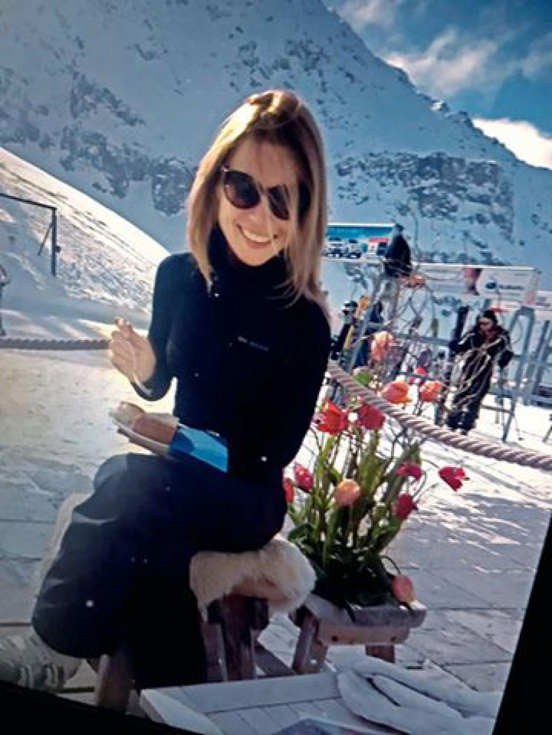 Ольга Фреймут в швейцарских Альпах