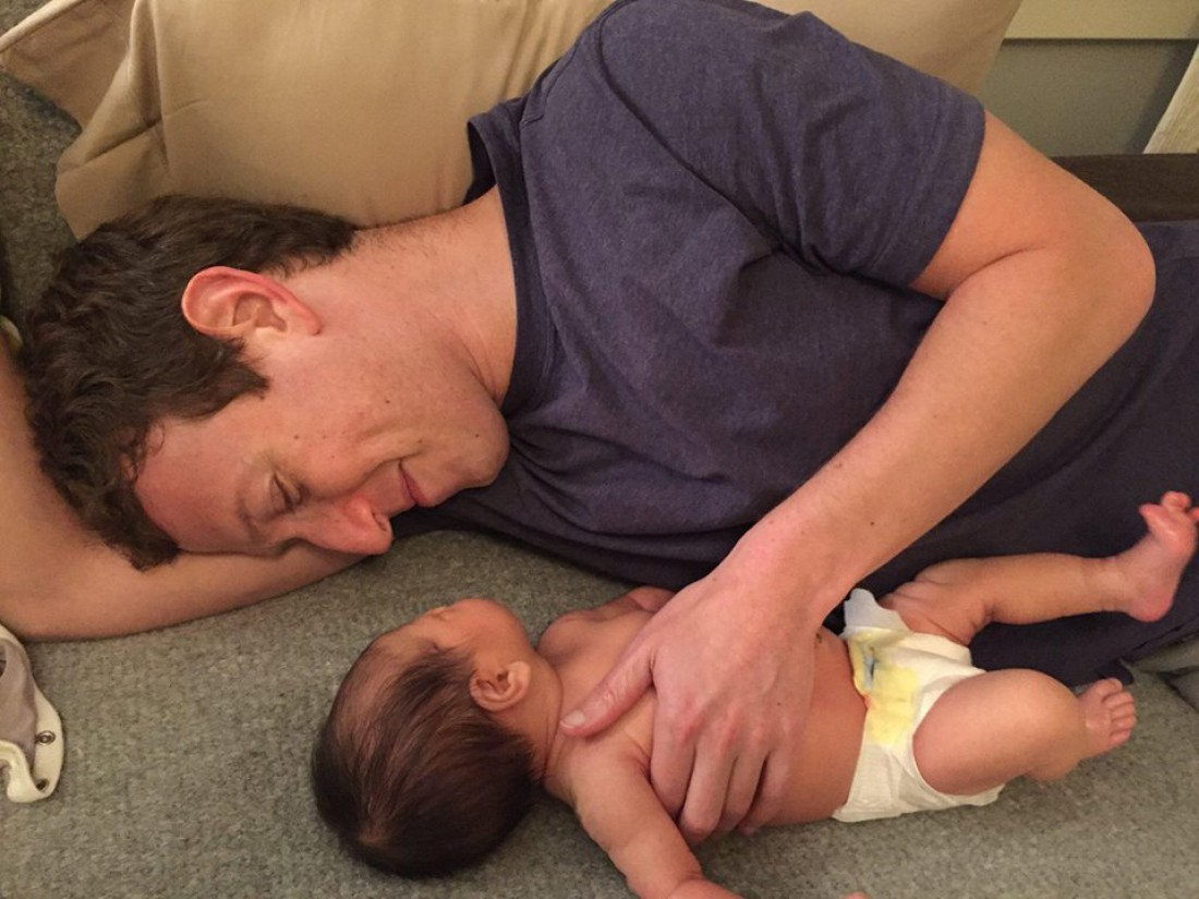 Марк Цукерберг с дочкой