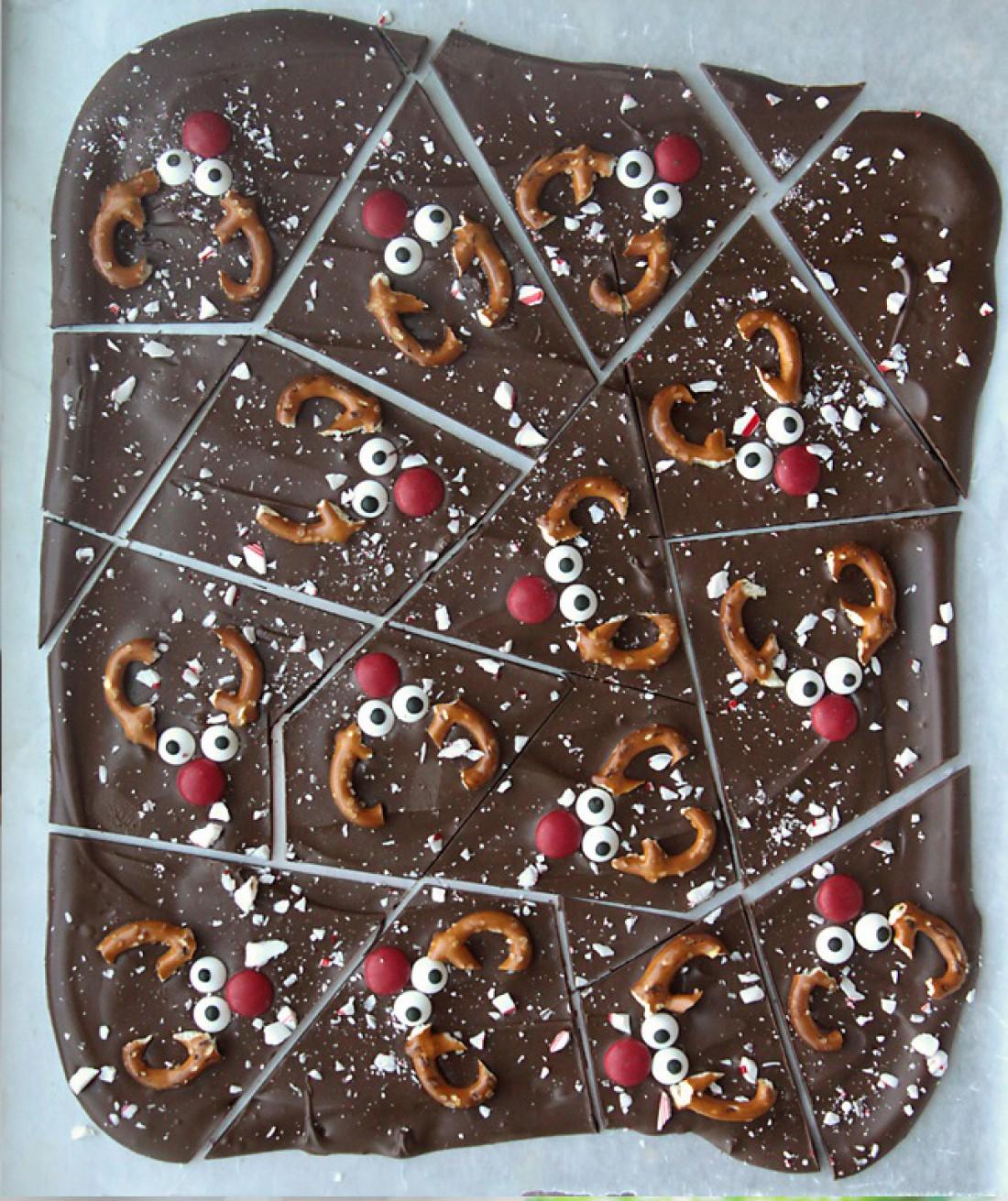 Шоколад с рождественским оленем