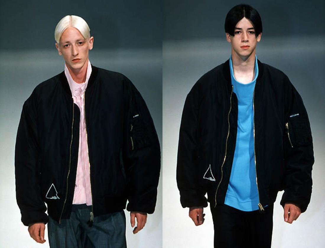 Мужские куртки-бомберы на показе Рафа Симонса