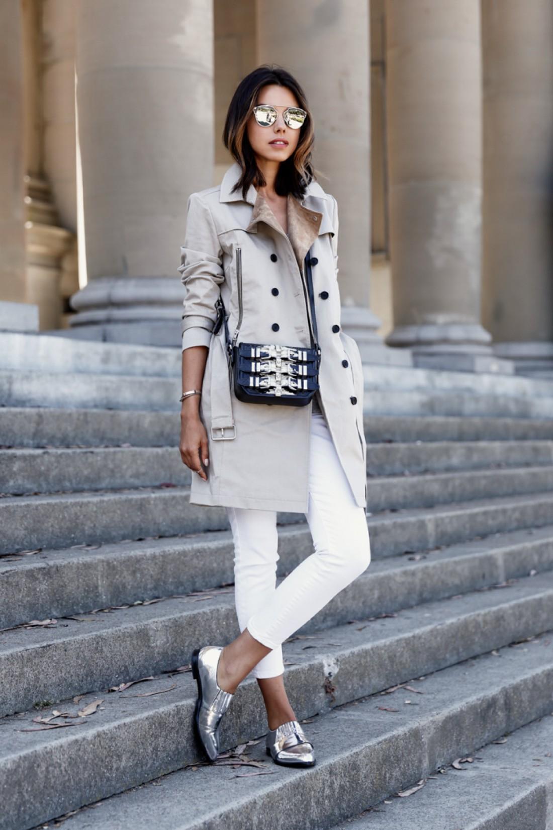 Как носить белый цвет осенью: способ № 6
