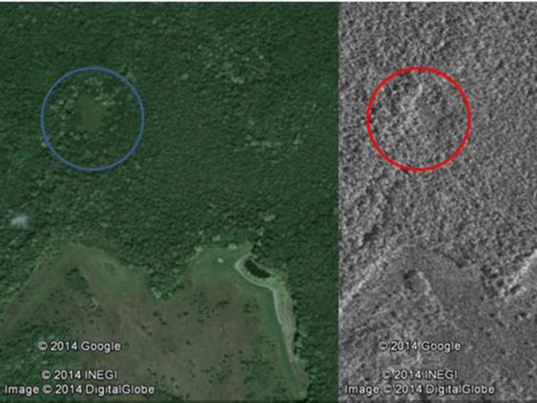 Поселение майя на полуострове Юкатан