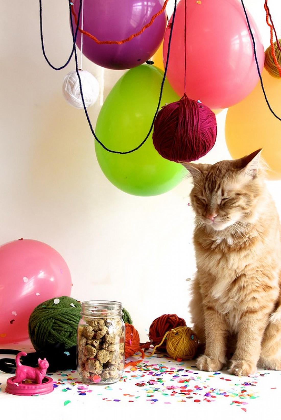 Мячик с кошачьей мятой