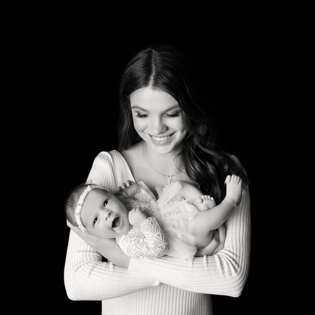 Даша Хлистун с дочерью Арианой