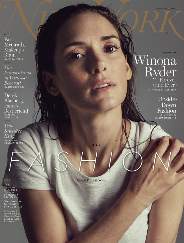 Актриса Вайнона Райдер на страницах New York Magazine