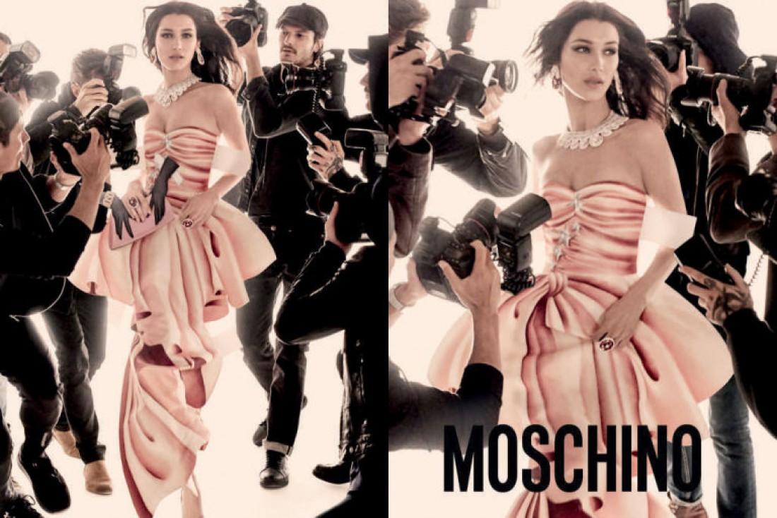 Белла Хадид в рекламной кампании Moschino