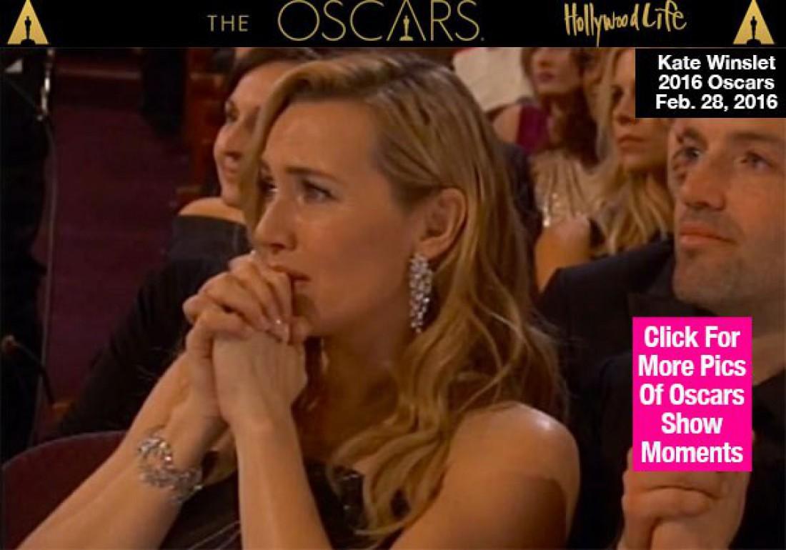 Кейт Уинслет расплакалась во время церемонии Оскар 2016