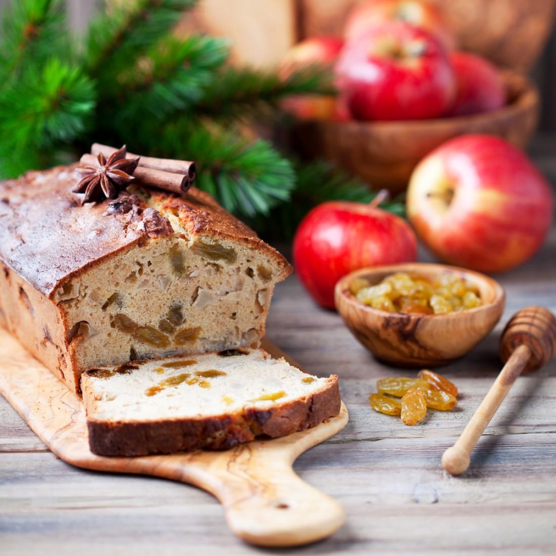 Яблочный кекс с пряностями