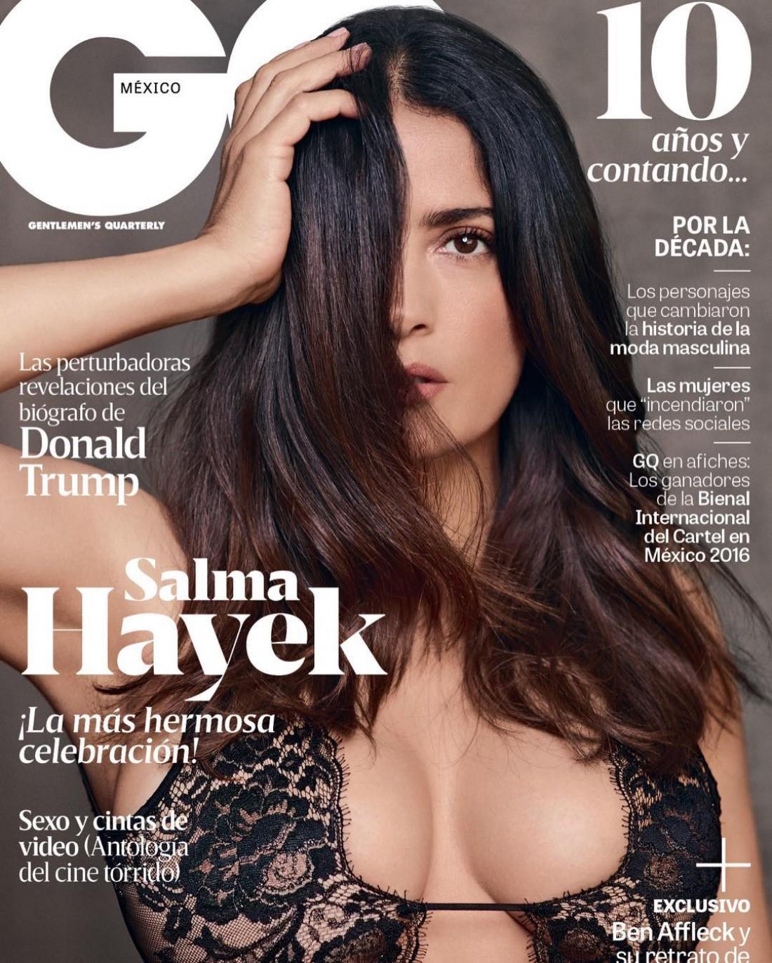 Сальма Хаейк на обложке журнала