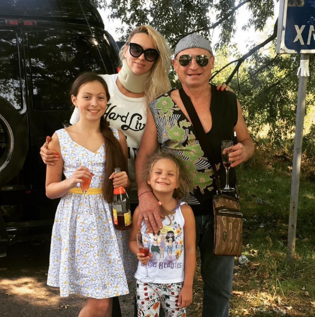 Полякова со своей семьей