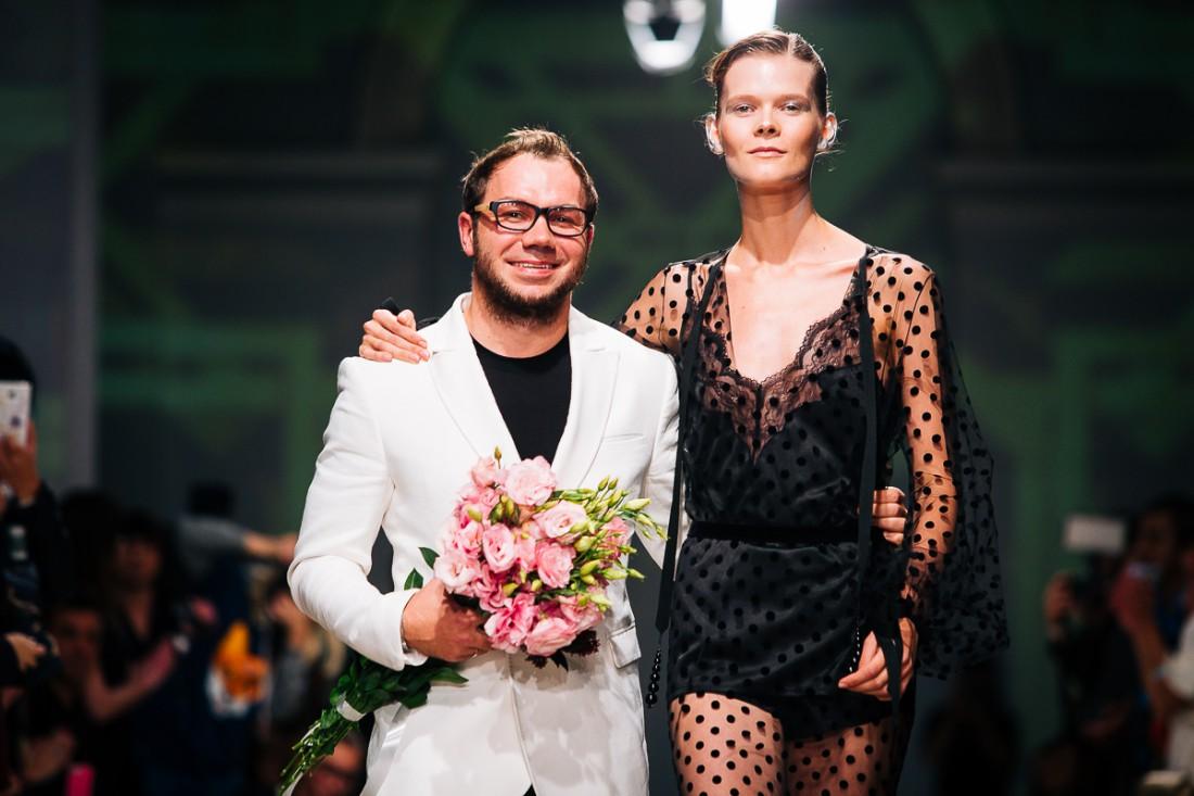 Дизайнер Андре Тан и топ-модель Ирина Кравченко