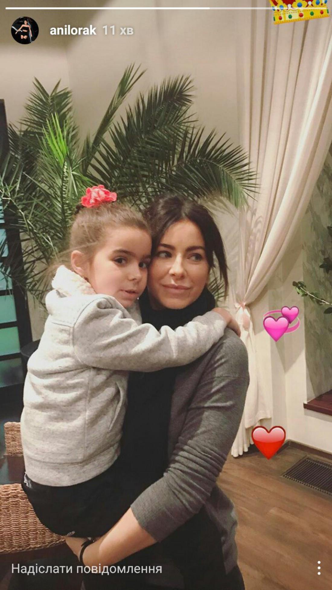 Каролина с дочкой