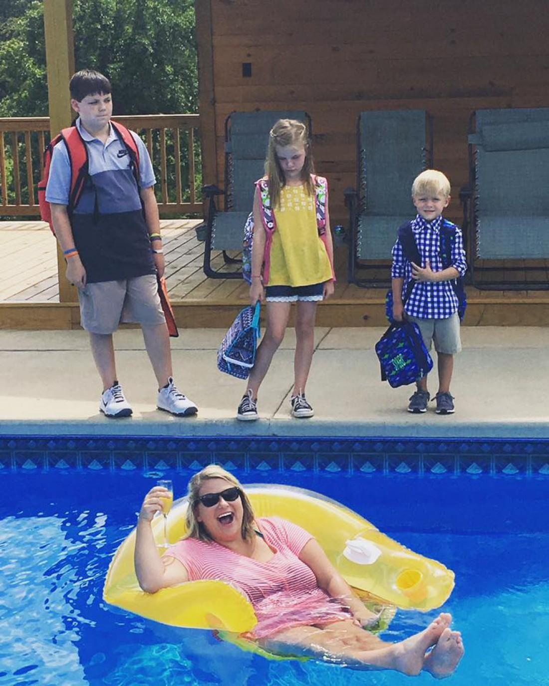 Джена Виллингем с детьми