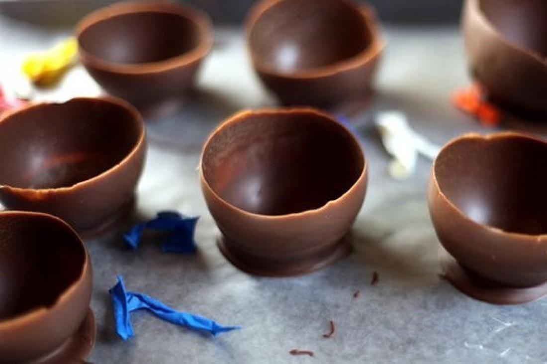 Шоколадные тарелочки: Рецепт