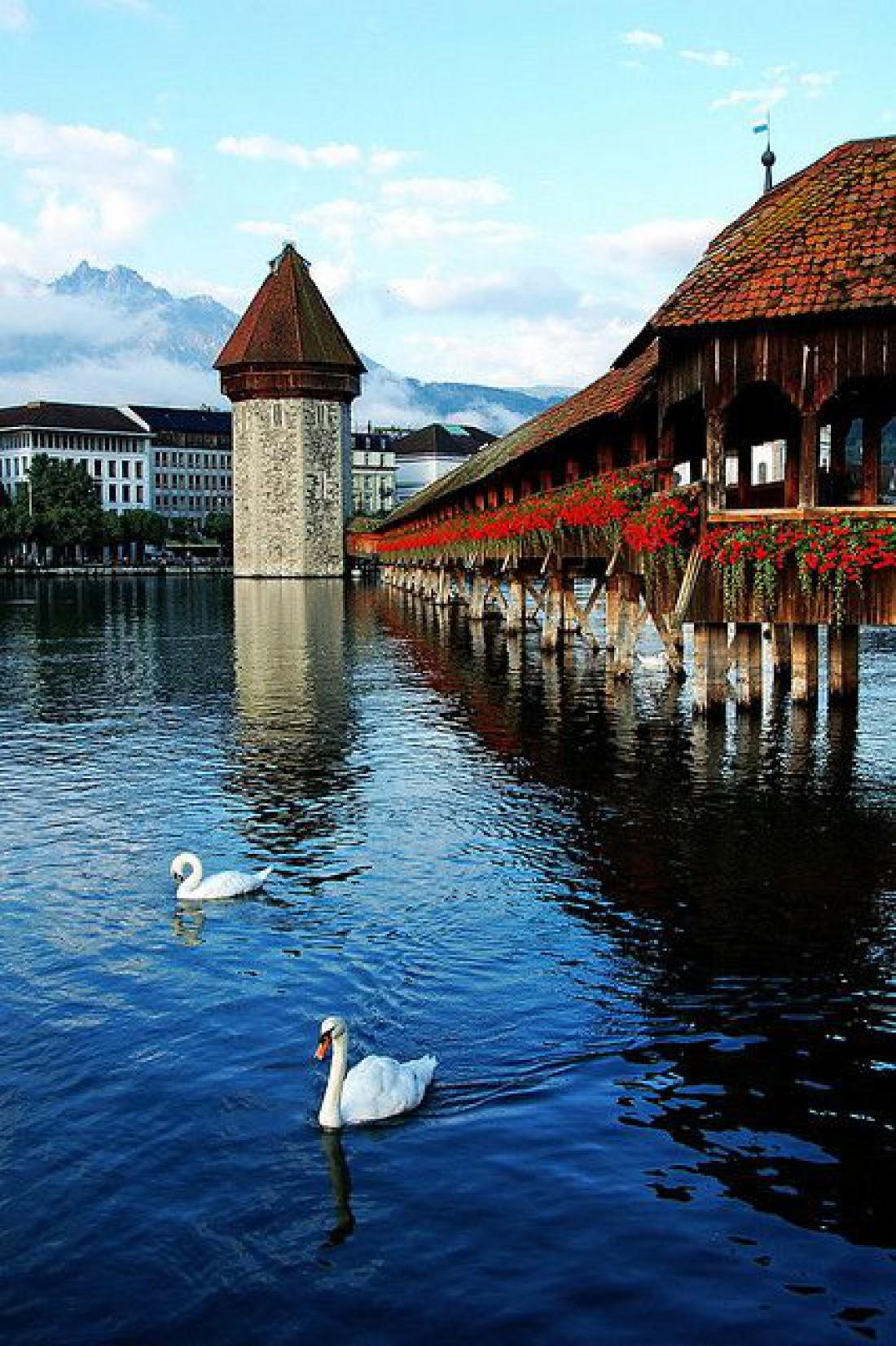 Часовенный мост - визитная карточка Швейцарии
