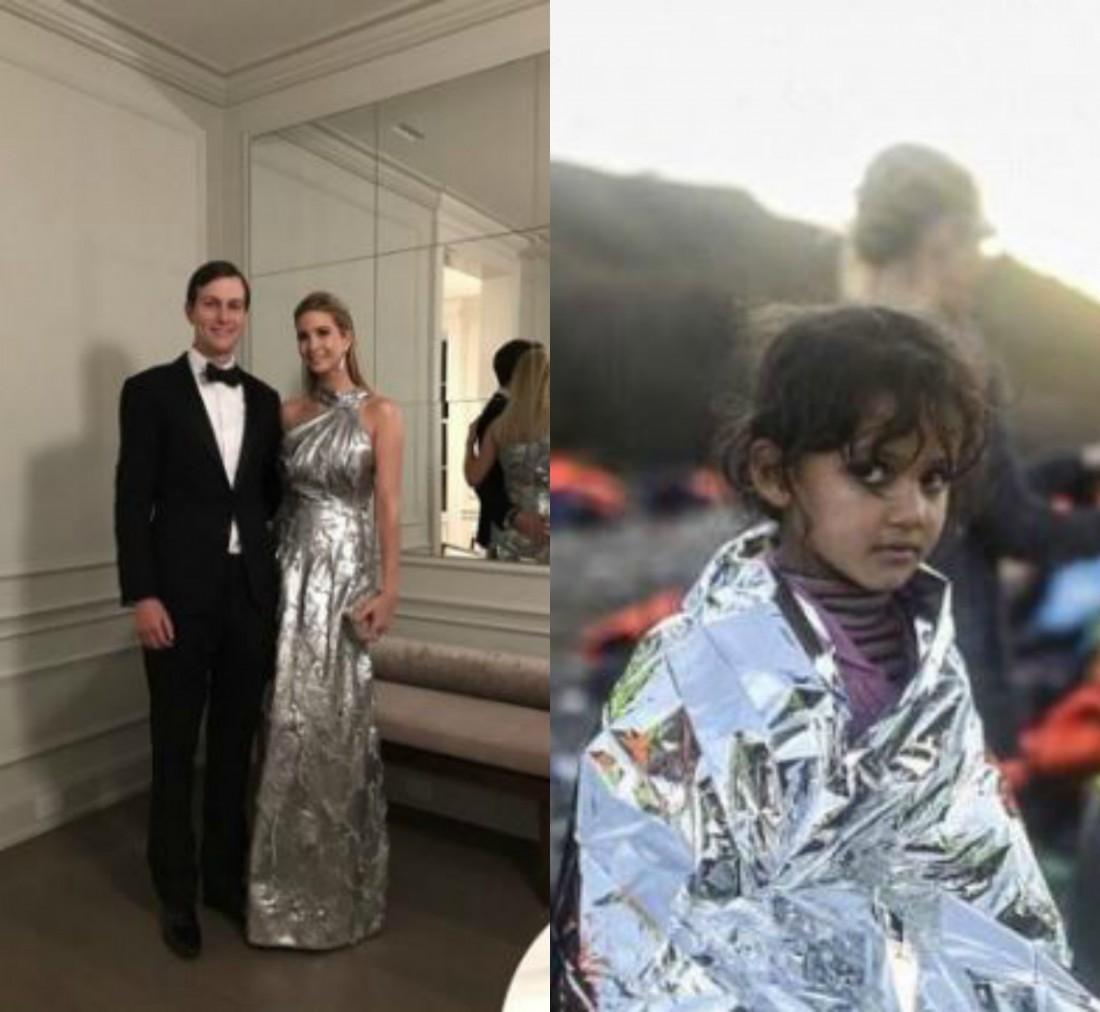 Иванка Трамп с мужем и девочка-беженка