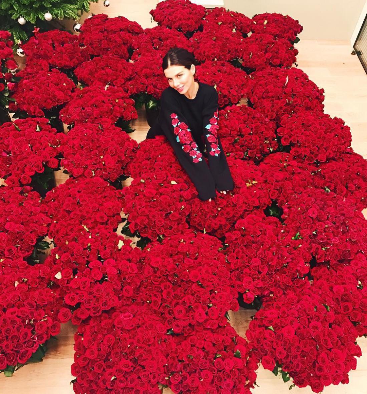 Фанат Анны Седоковой засыпал эстрадную певицу цветами— млн алых роз