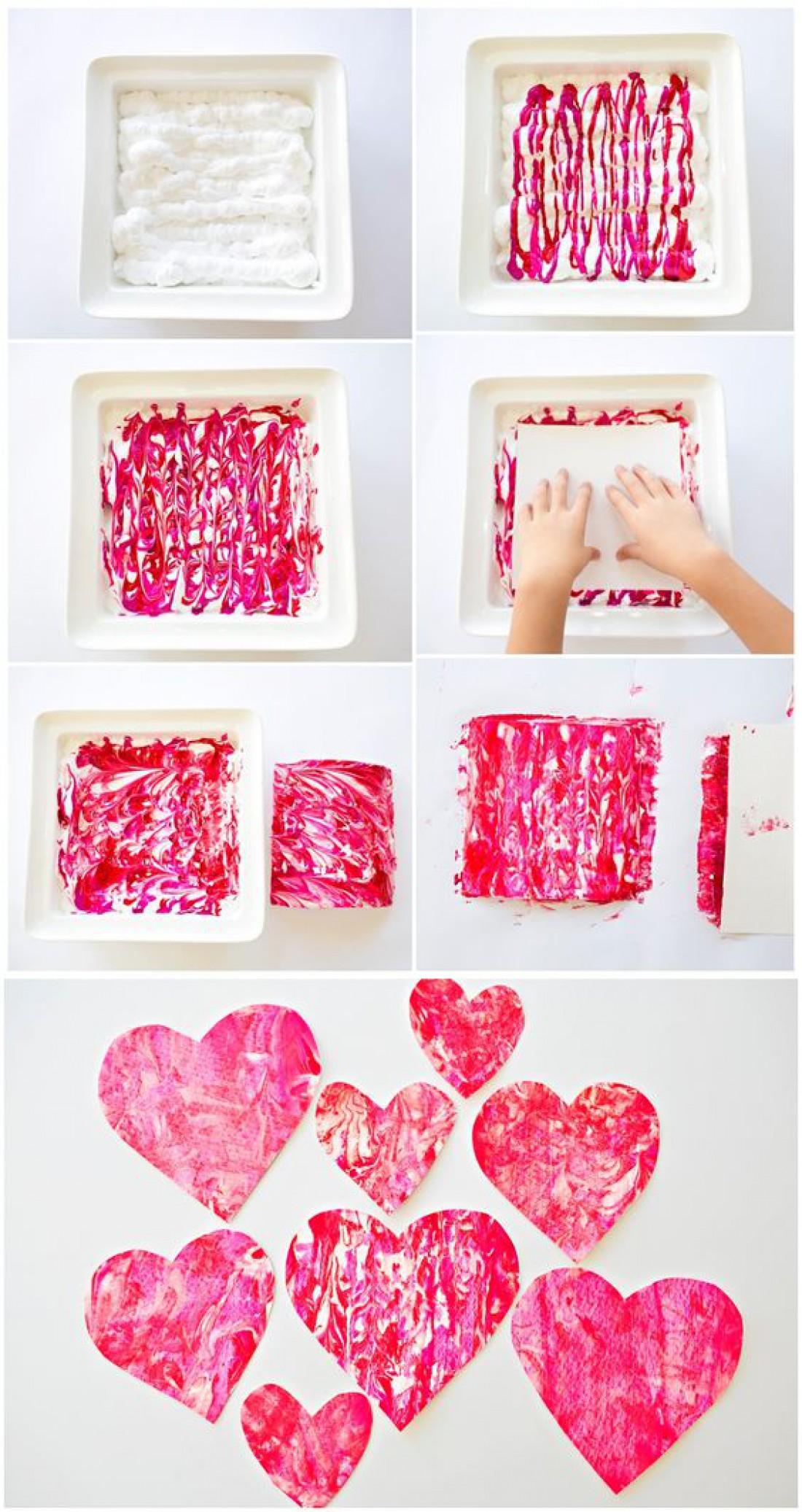 Милые валентинки руками детей