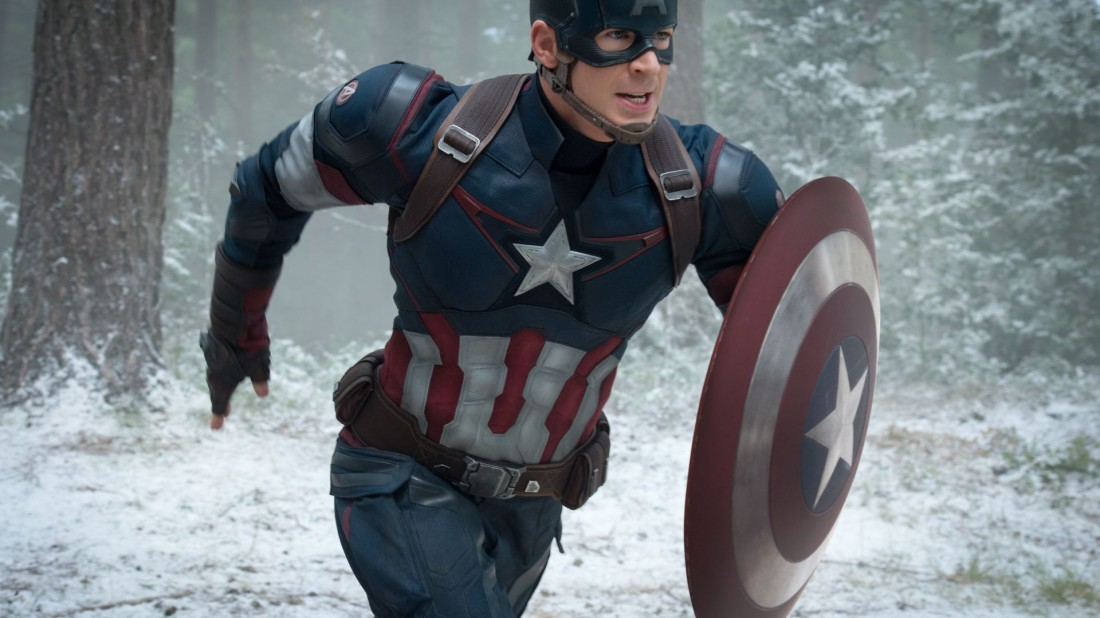 Крис в образе Капитана Америки