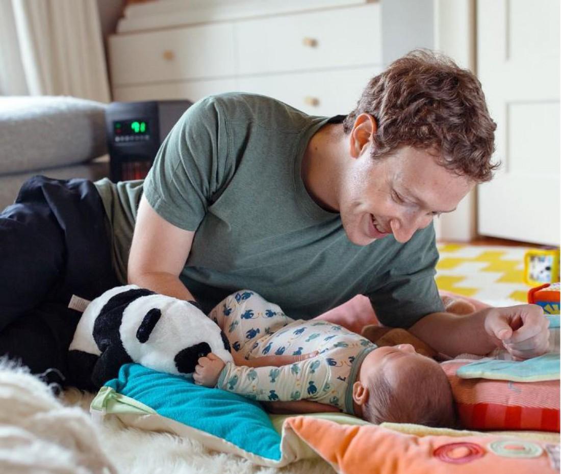 Марк Цукерберг с дочерью Макс