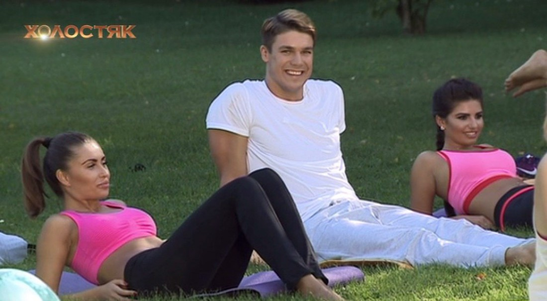 Холостяк 7 сезон 3 выпуск: Дмитрий Черкасов с девушками на йоге