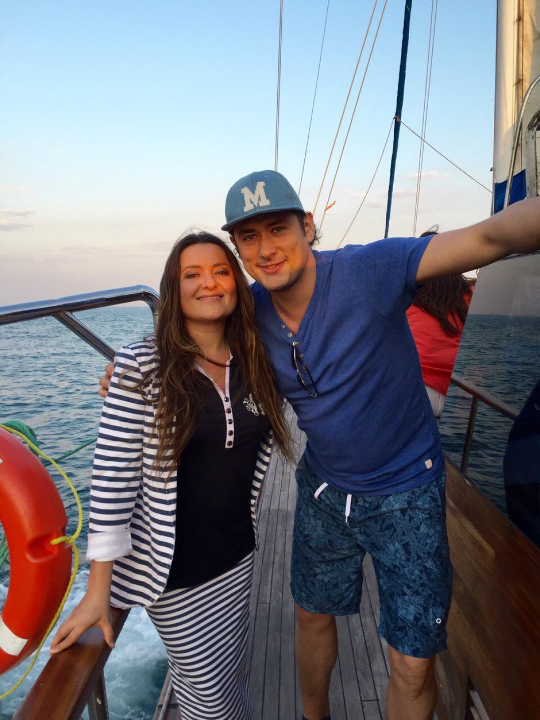Наталья Могилевская с другом