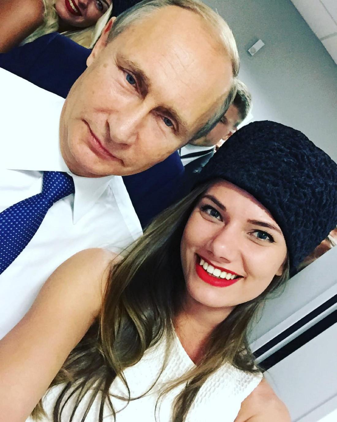 Владимир Путин и Мисс Россия 2015