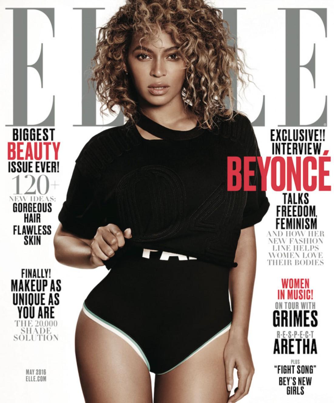 Певица Бейонсе на майской обложки Elle
