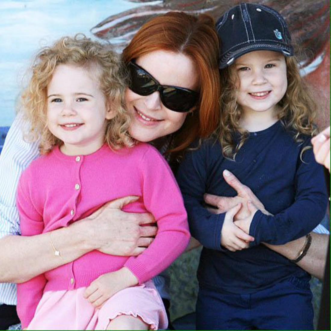 Марсия с дочками