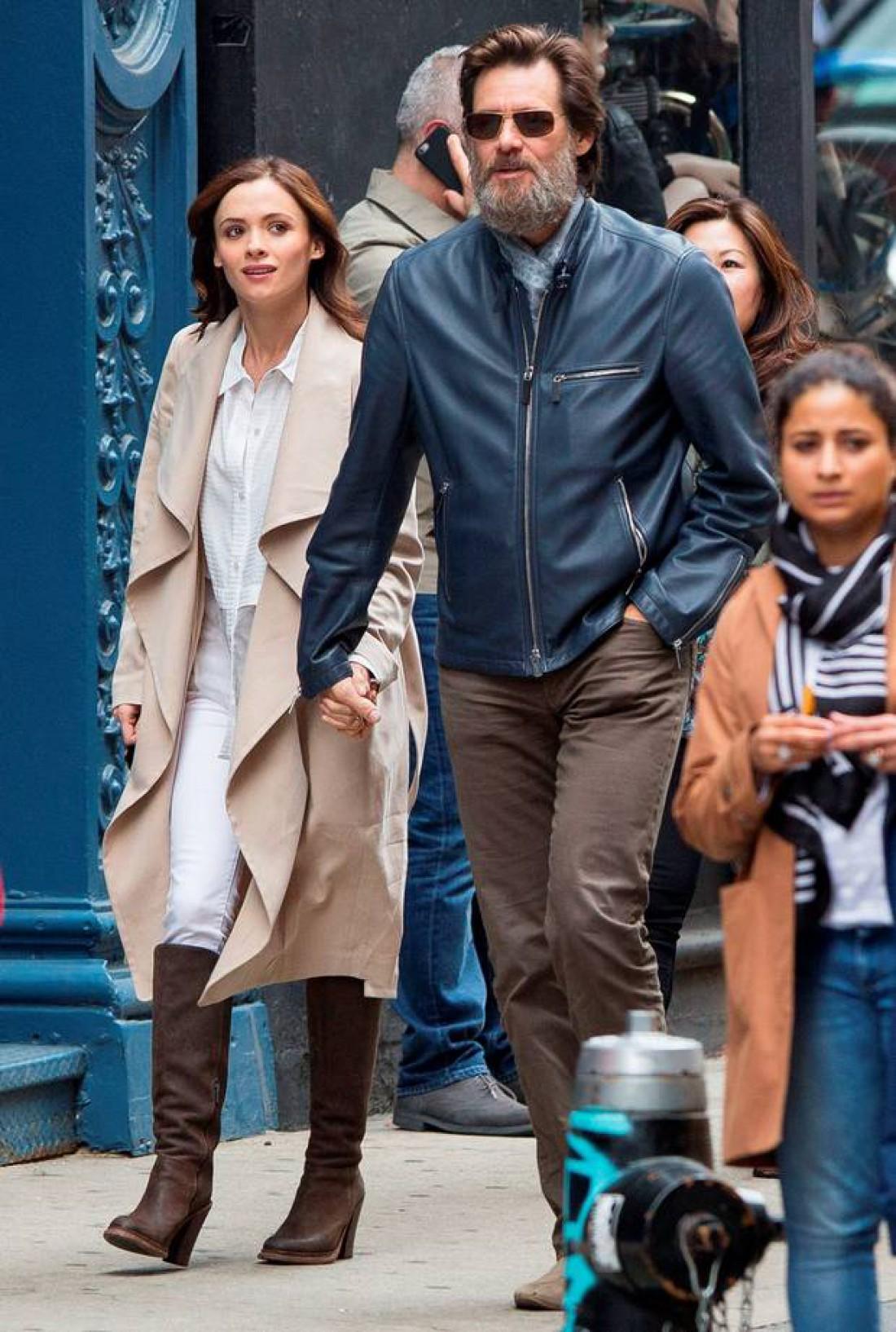 Джим Керри и Кэтриона Уайт в мае 2015 года
