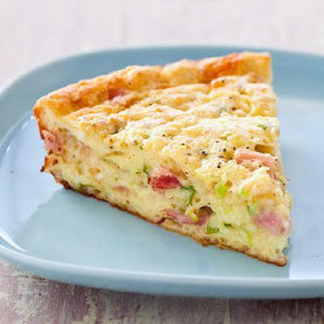 Рецепт заливного пирога с ветчиной и сыром в духовке