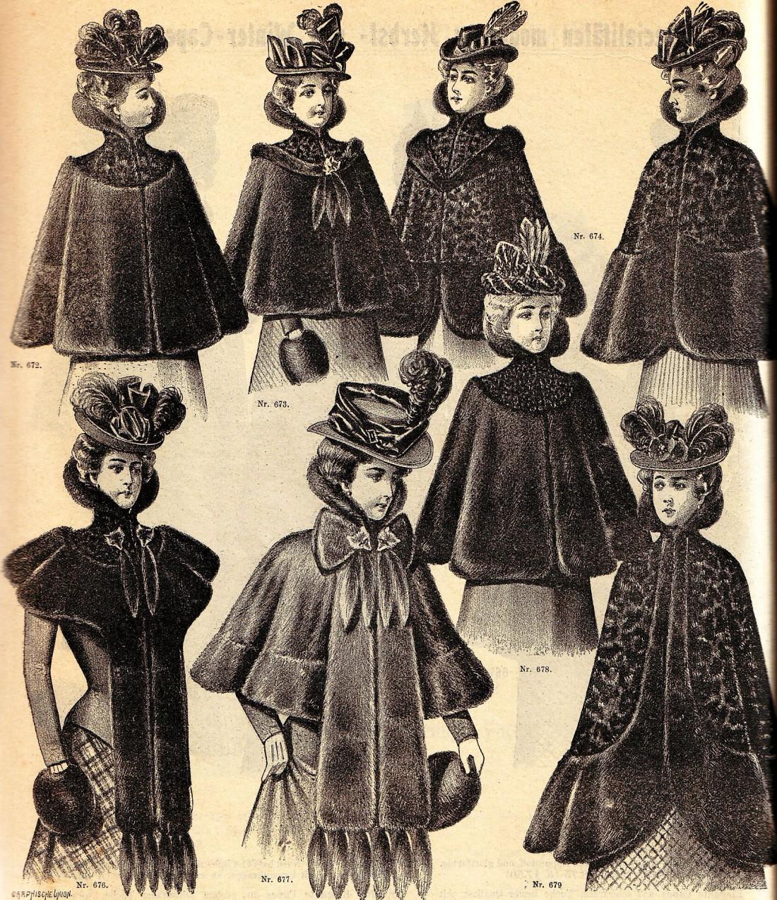 Виды верхней одежды в Викторианскую эпоху