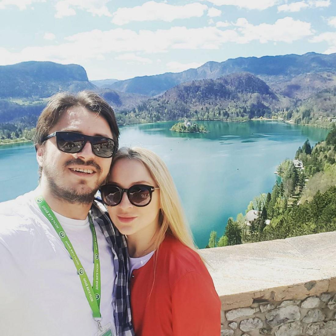 Сергей Притула с женой Екатериной