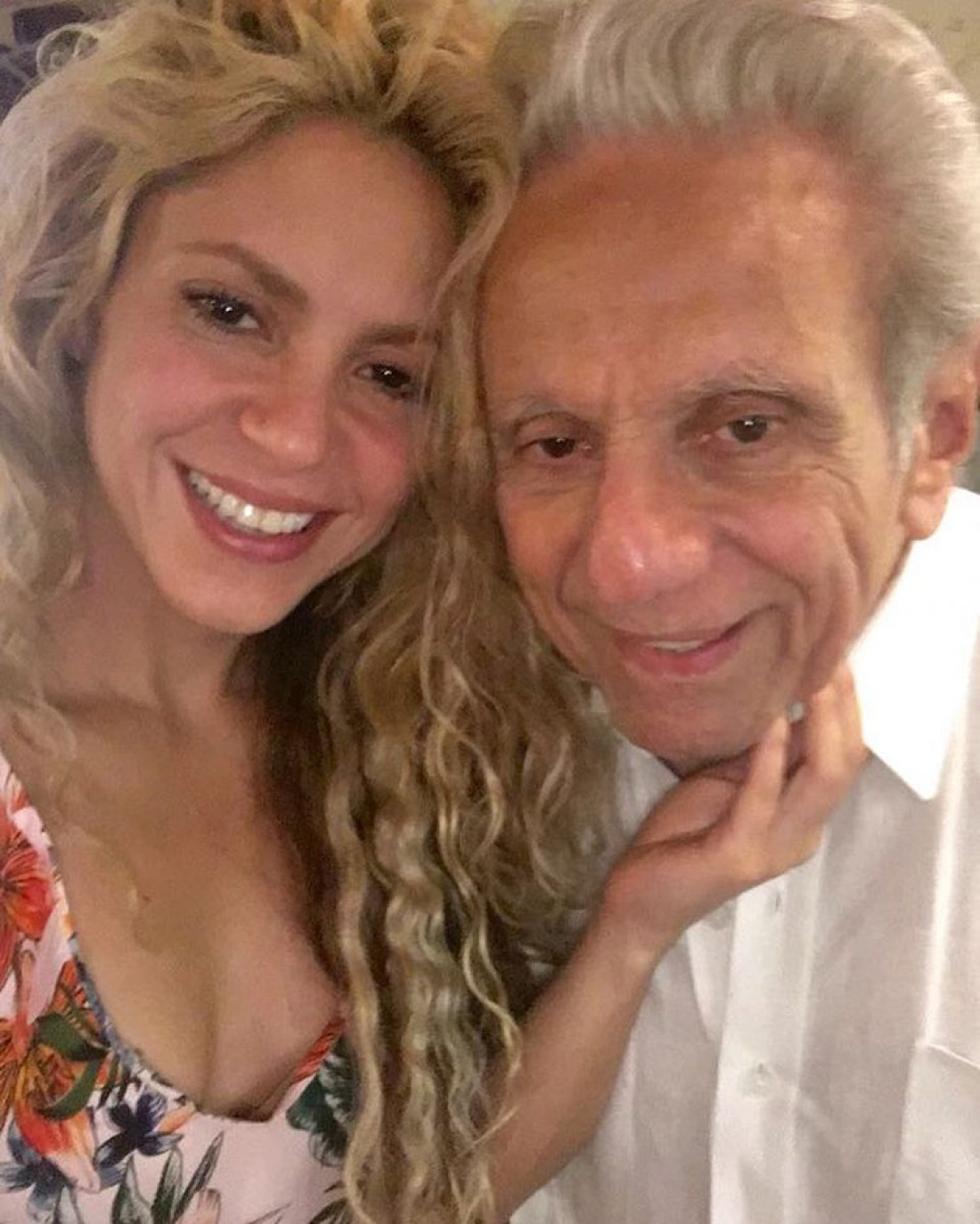 Шакира с отцом