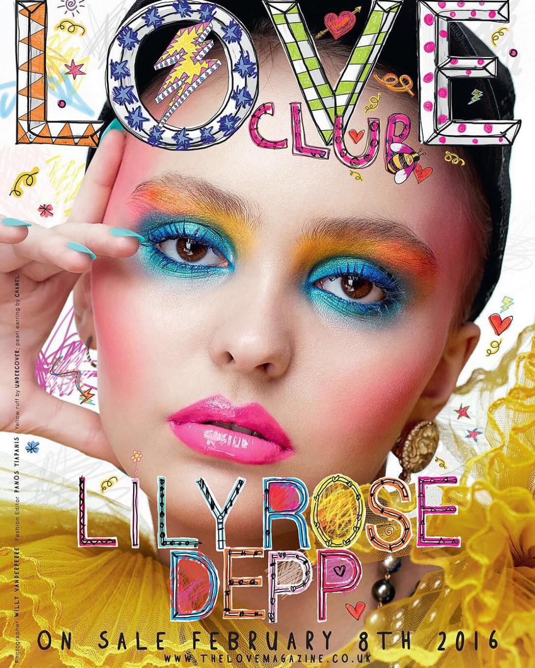 Лили-Роуз Депп на обложке британского издания