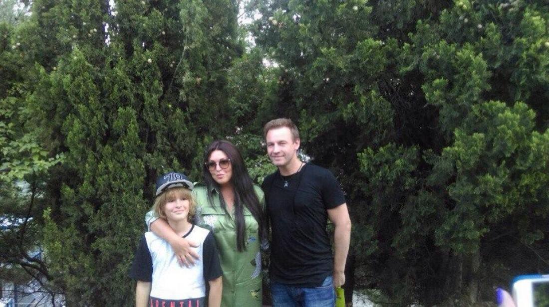 Ирина Дубцова и ее бывший муж Роман Черницын с сыном Артемом