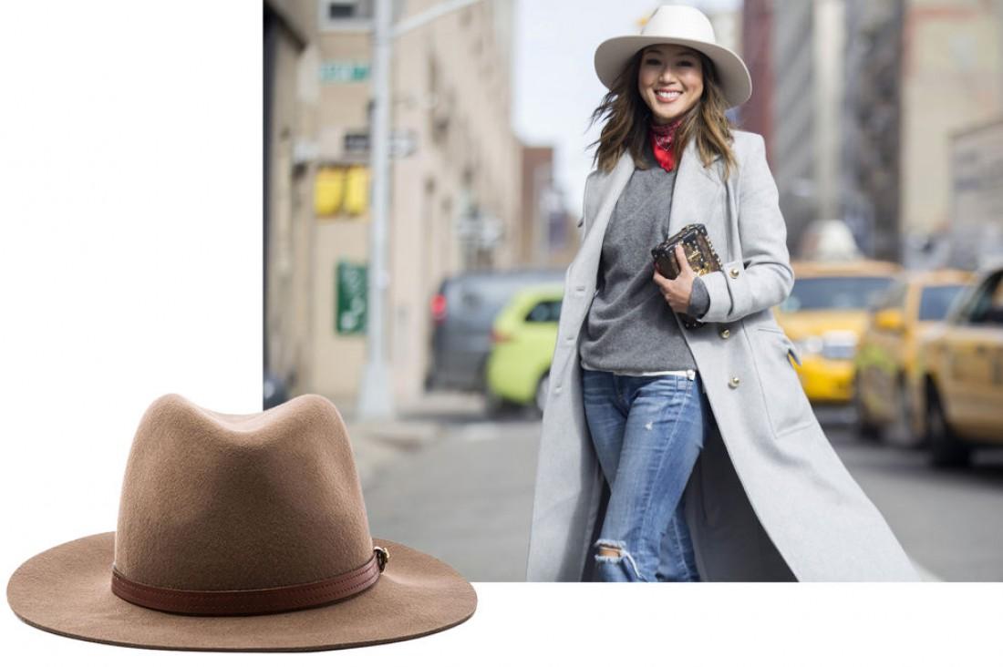 Модные головные уборы 2016: шляпа-федора