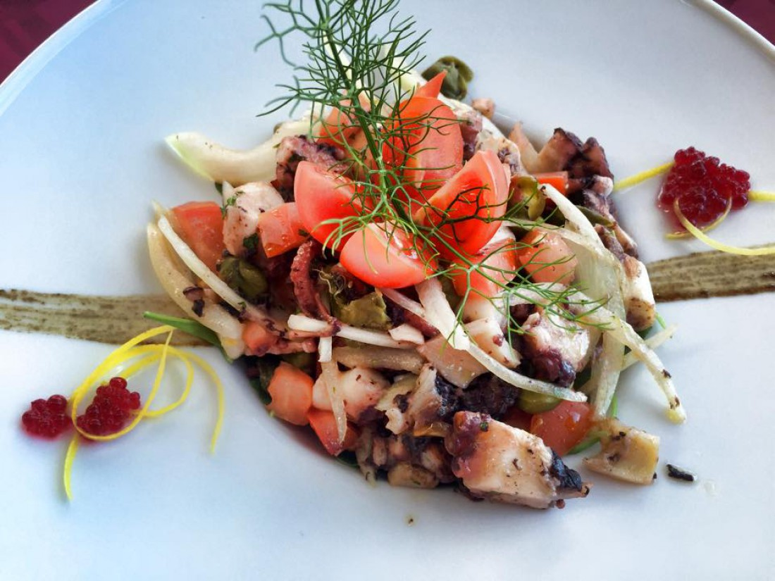 Отдых в Хорватии: блюдо в ресторане Водице