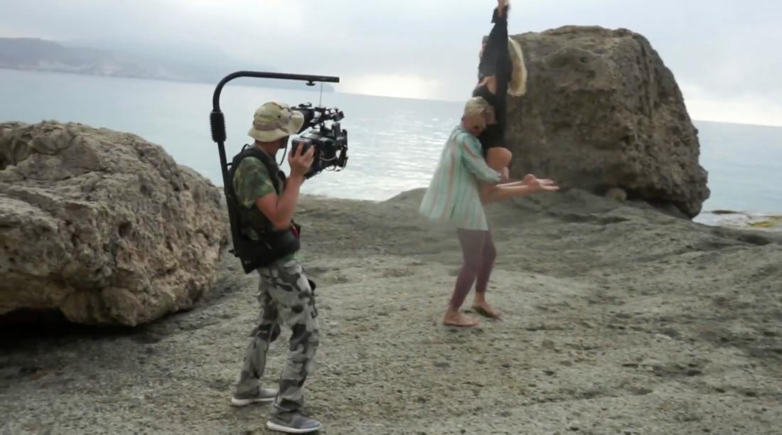 Кадр со съемок нового клипа LOBODA