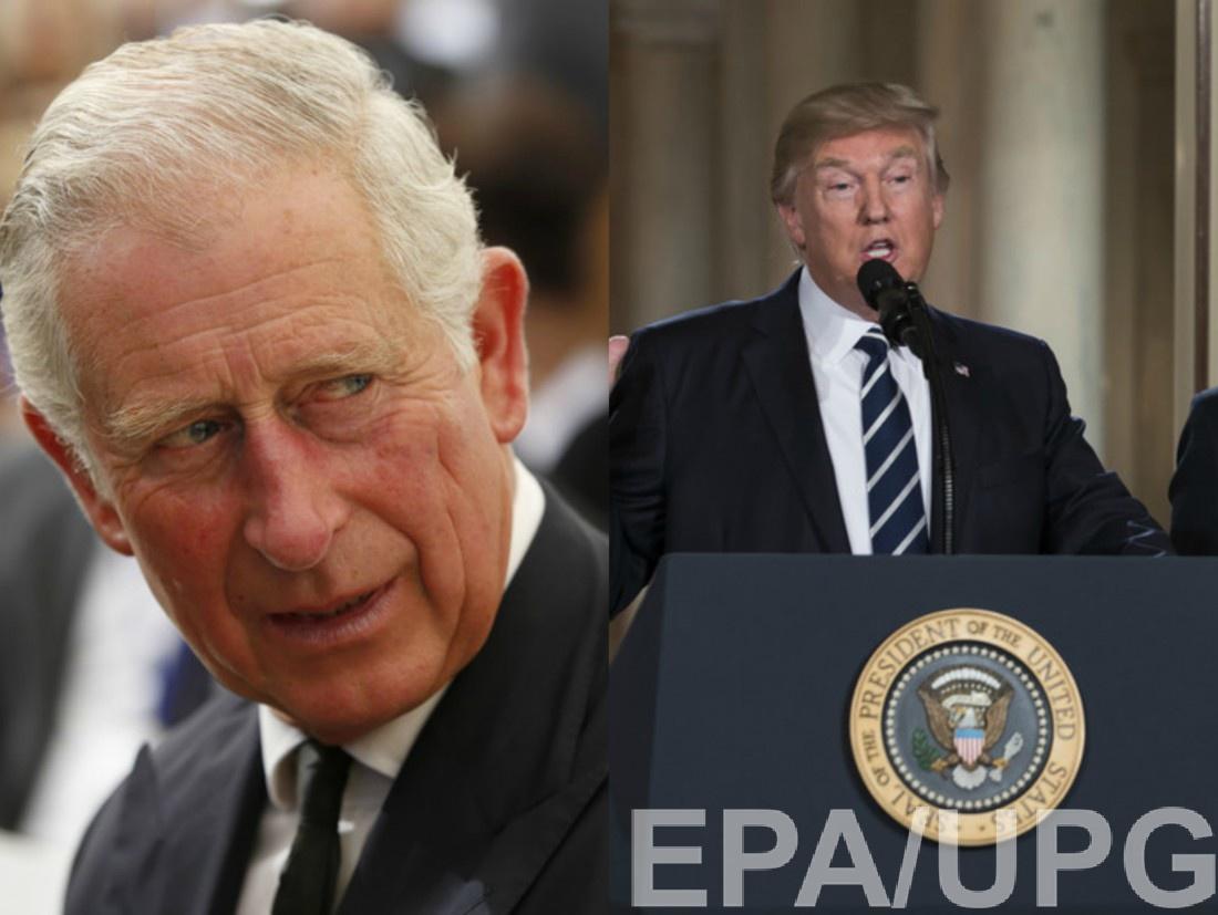 Принц Чарльз, Дональд Трамп