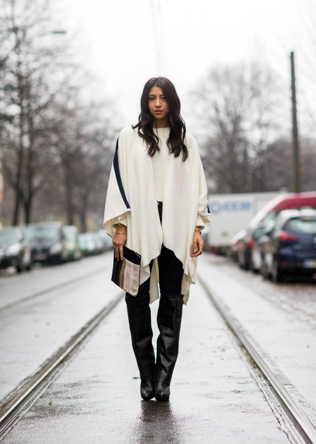 Как носить белый цвет осенью: способ № 5