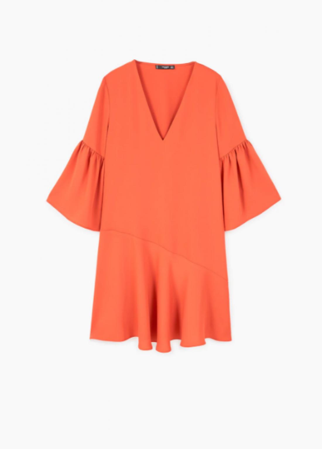 Ярко-оранжевое платье