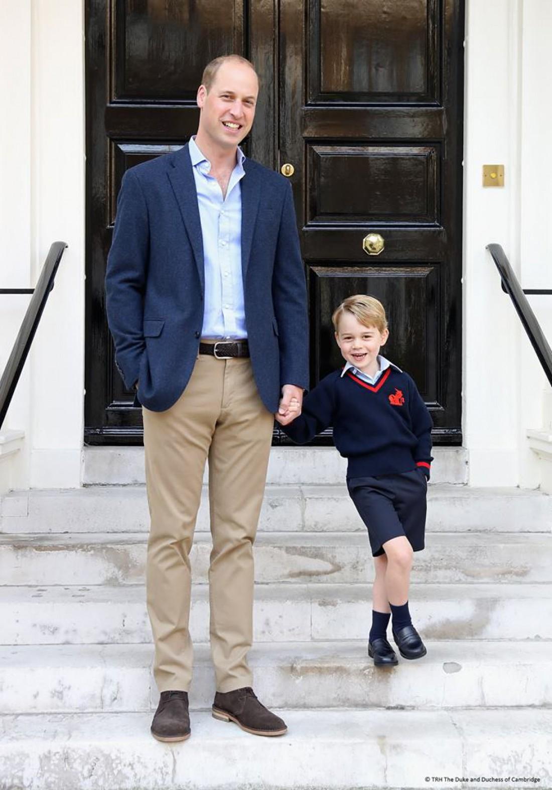 Принц Джордж с папой принцем Уильямом