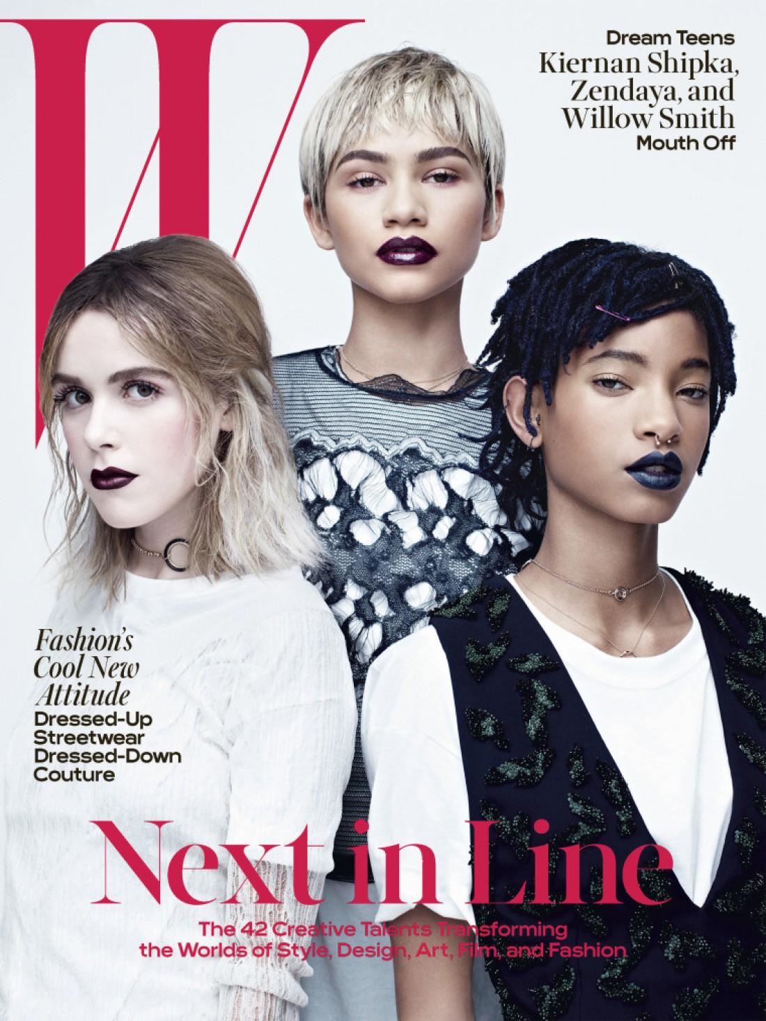 Кирнан Шипка, Зендая и Уиллоу Смит на обложке W Magazine